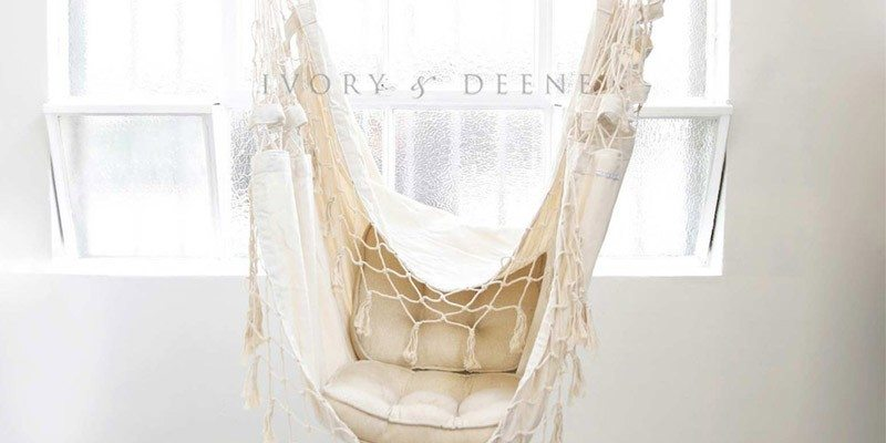 Luxury Cream Provincial Hanging Hammock