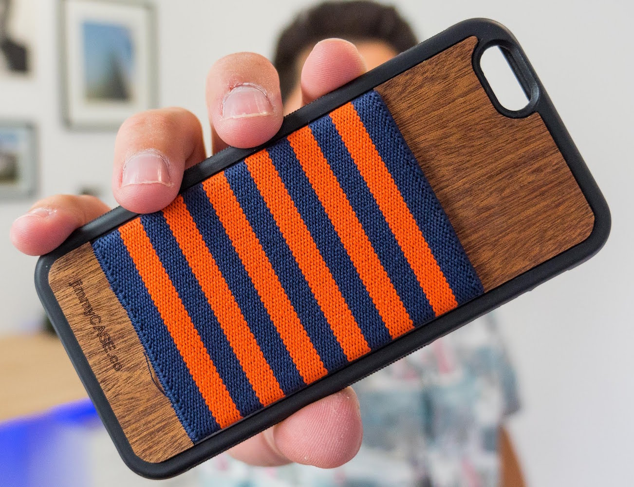 IPhone+6%2FS+Wallet+Case+By+JimmyCASE+%26%238211%3B+With+A+Custom+Woven+Elastic+Pocket