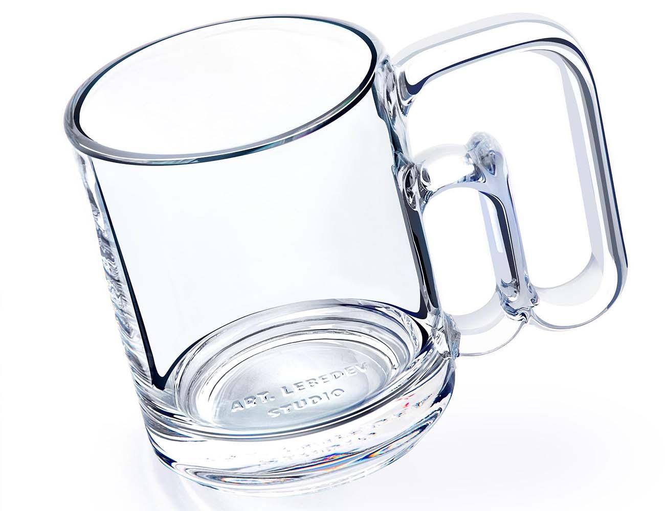 Atmarkus 3G Glass Mug from Art. Lebedev Studio