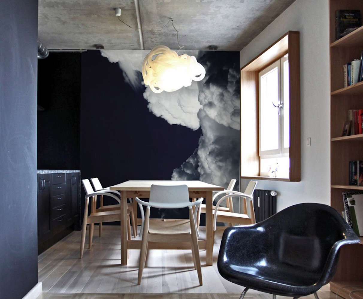 Dark Clouds Wall Mural by Eazywallz
