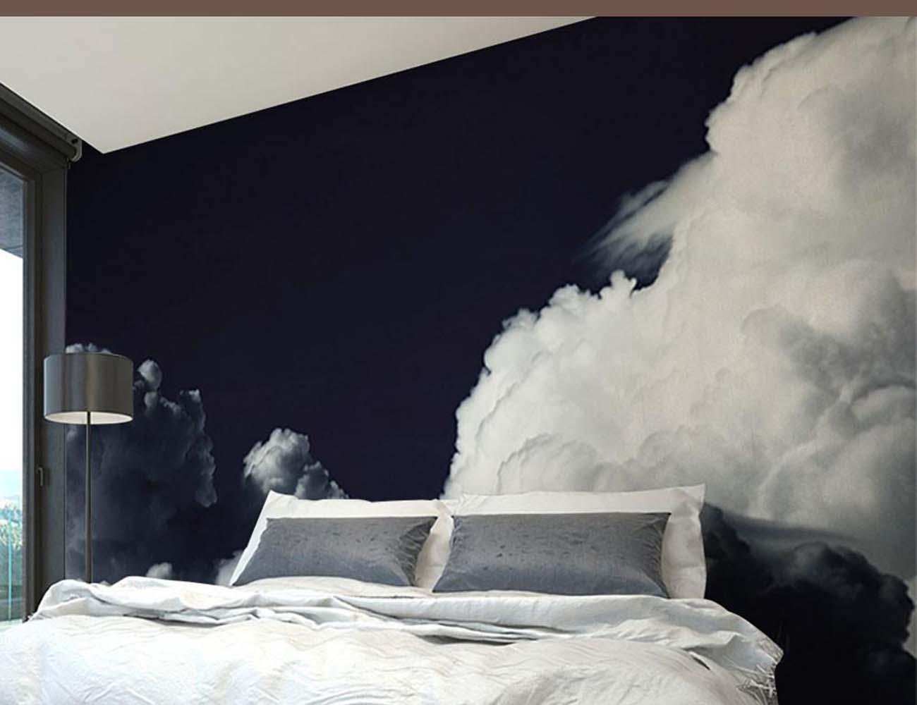 Dark clouds wall mural by eazywallz gadget flow for Cloud wall mural