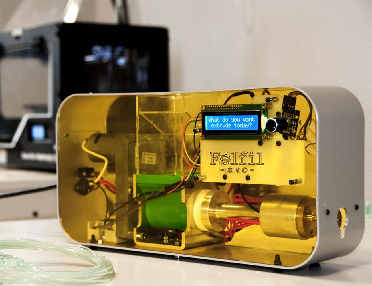 ПЛАСТИК для 3Д Принтера НЕ ВЫХОДЯ ИЗ ДОМА | Экструдер Felfil Evo - с открытым исходным кодом.