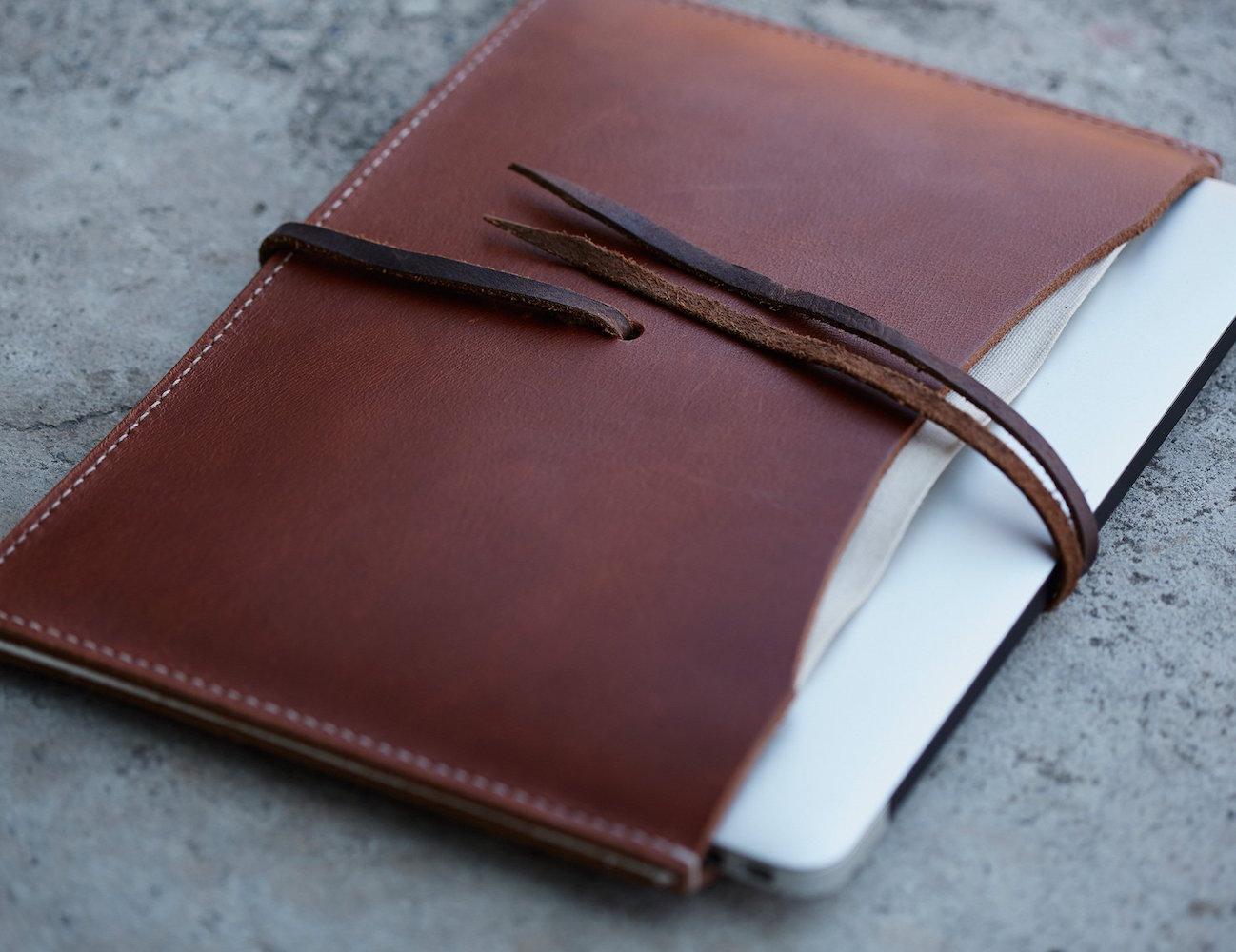 Hand Stitched MacBook Air Portfolio by JM & Sons