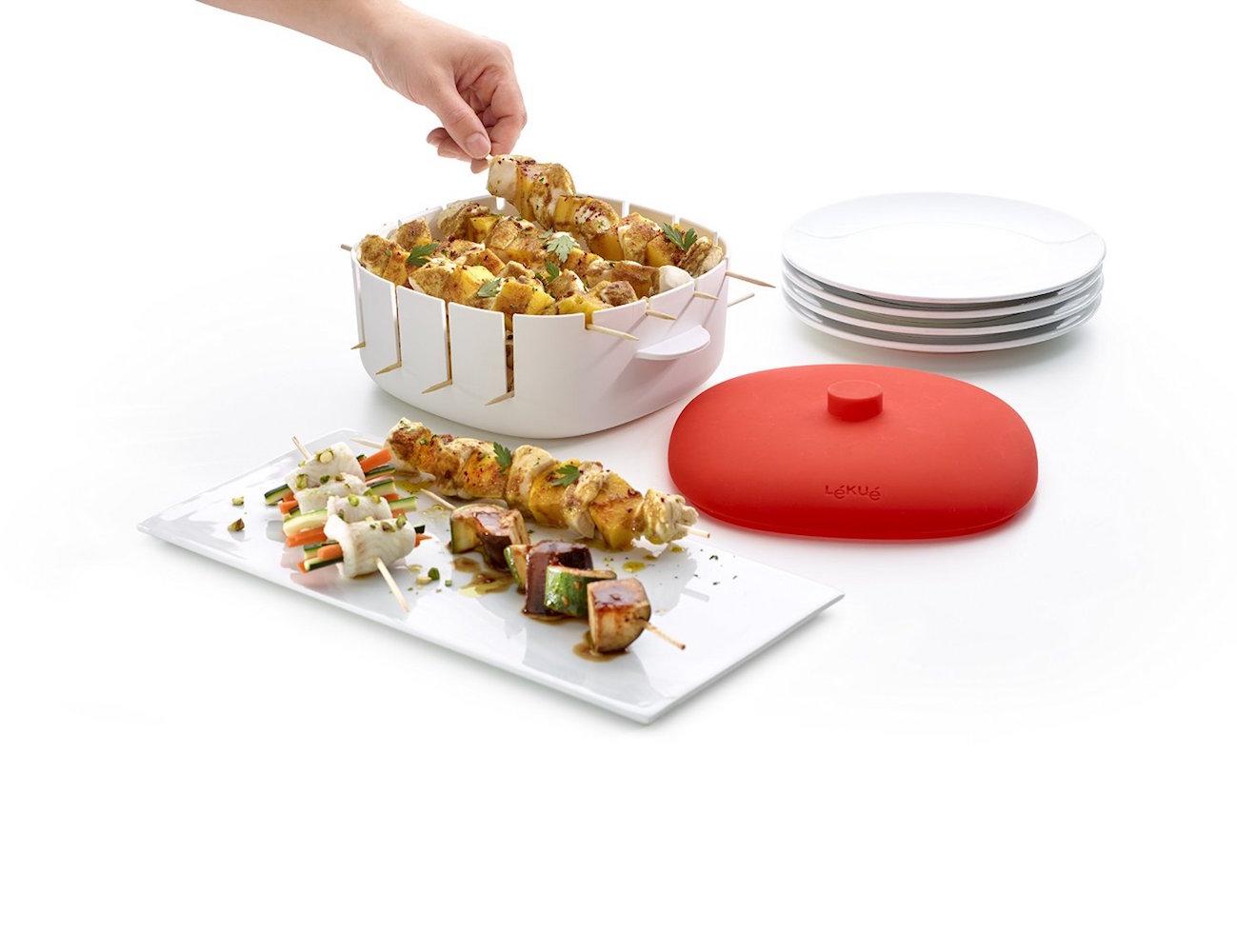 Lékué Microwavable Kebob Cooker