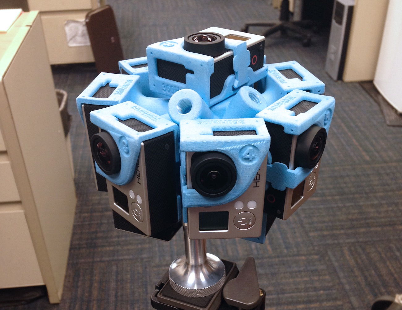 Pro6 – The 360-Degree GoPro Holder by 360Heroes