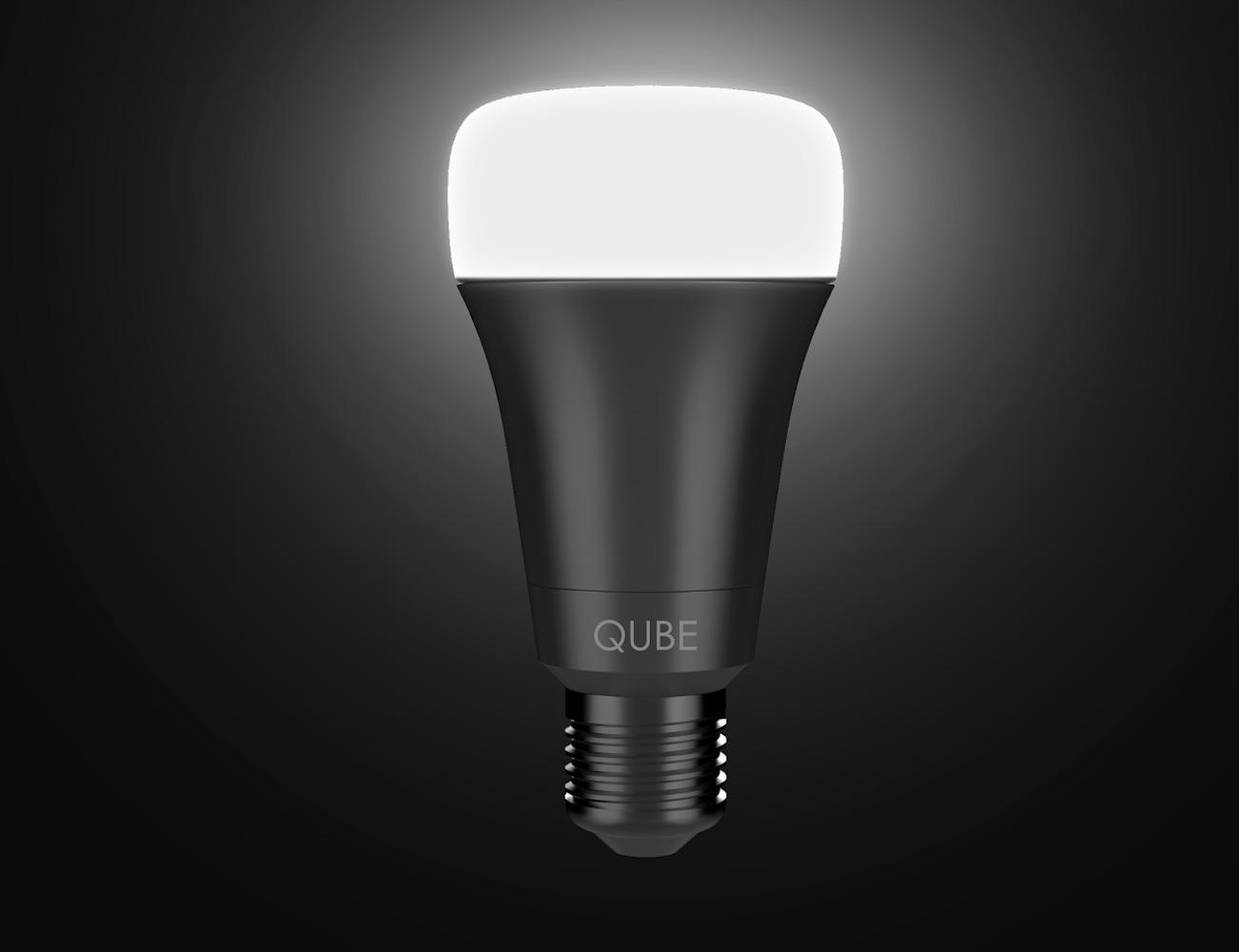 qube world 39 s most affordable wi fi enabled multi color led smart bulb for your home gadget flow. Black Bedroom Furniture Sets. Home Design Ideas