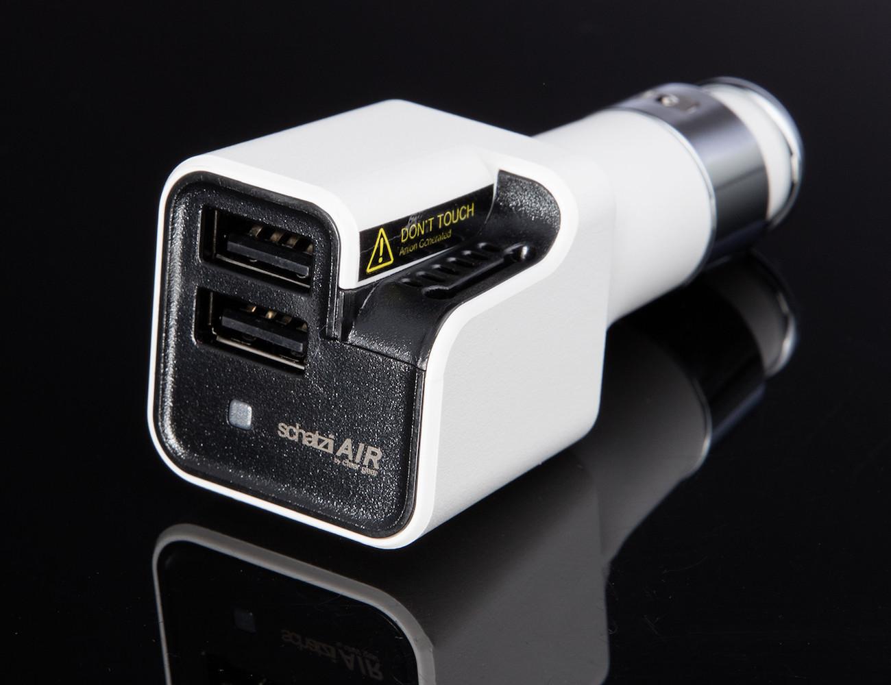 Schatzii Air Ionic Car Air Purifier Dual Usb Car Charger