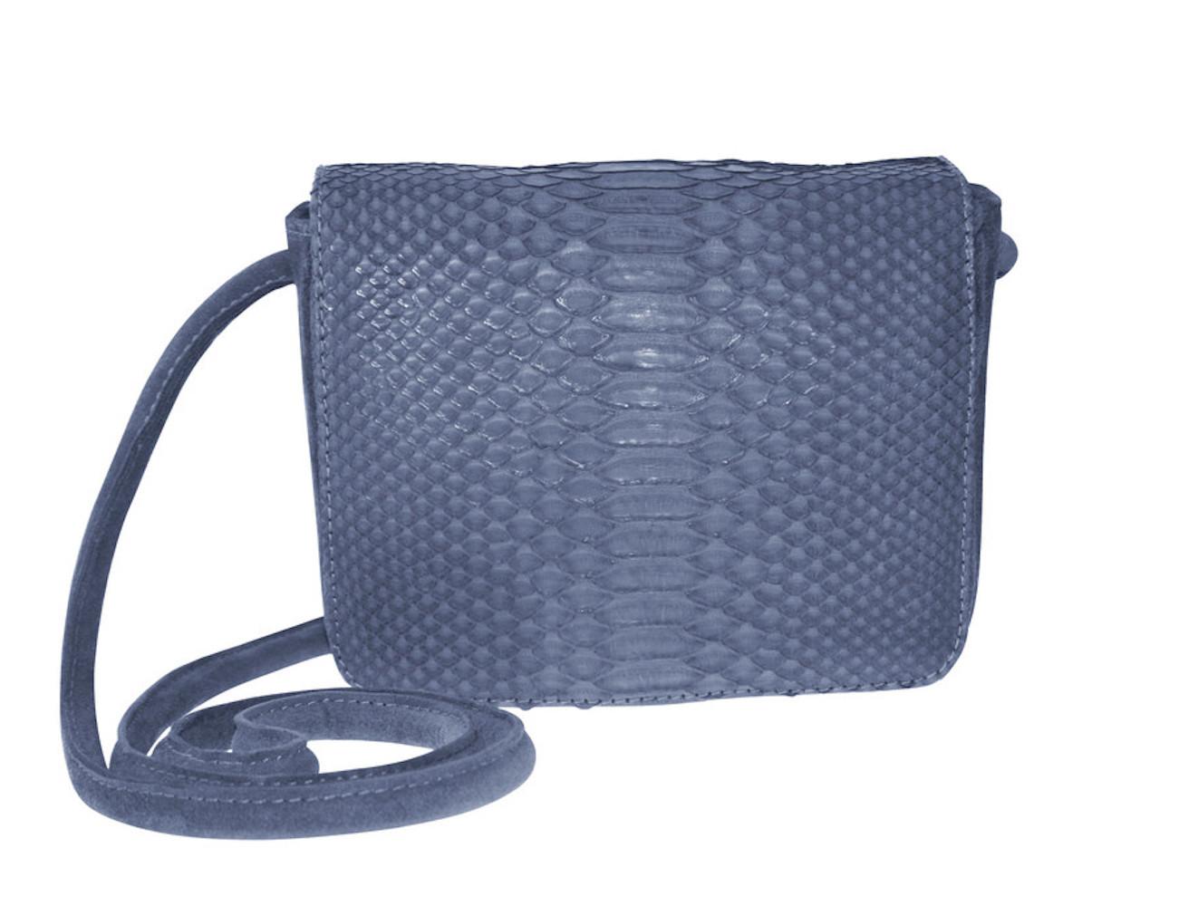 Sharon- Python/Suede Cross-Body Everyday Bag