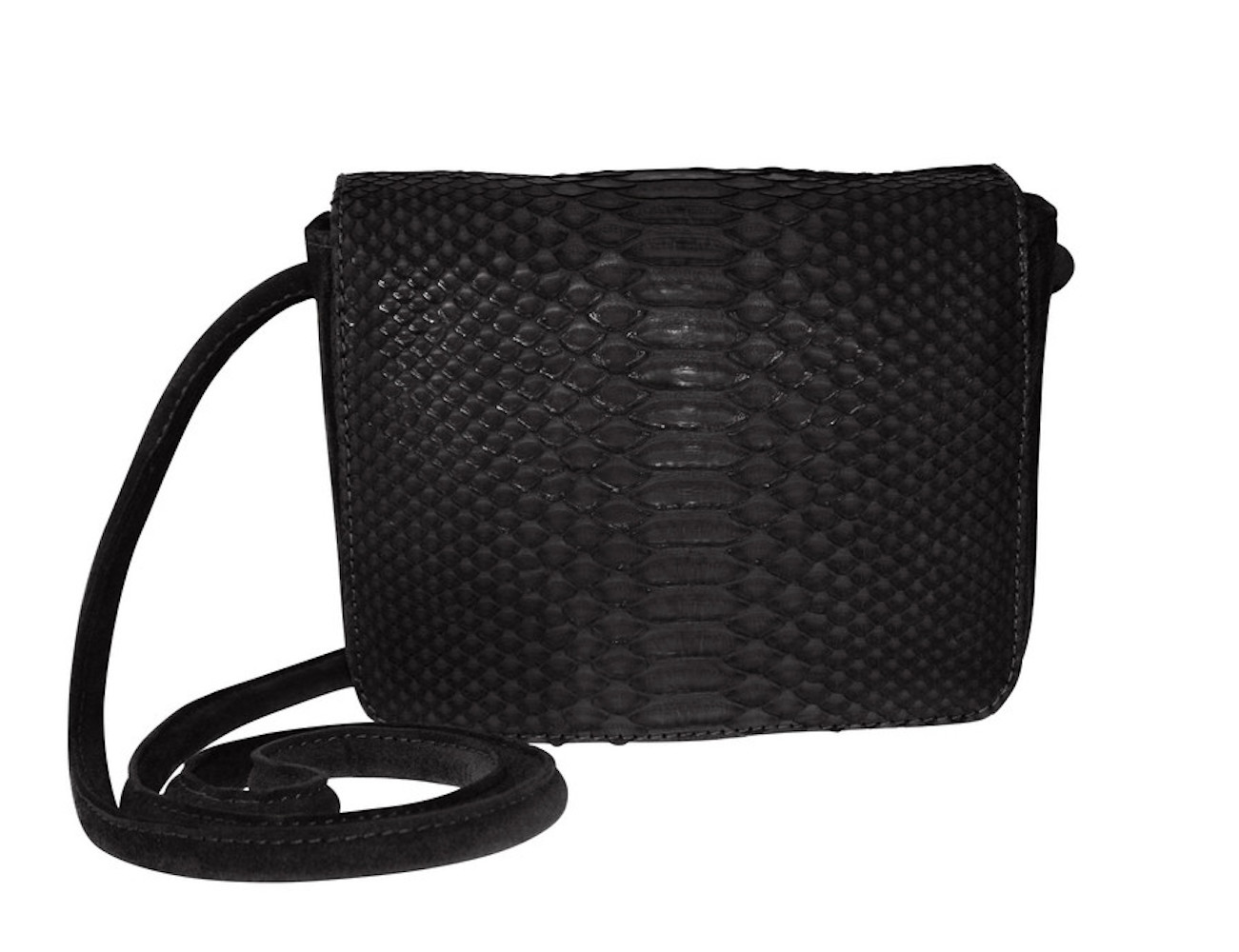 Sharon- Python/Suede Cross-Body Everyday Bag