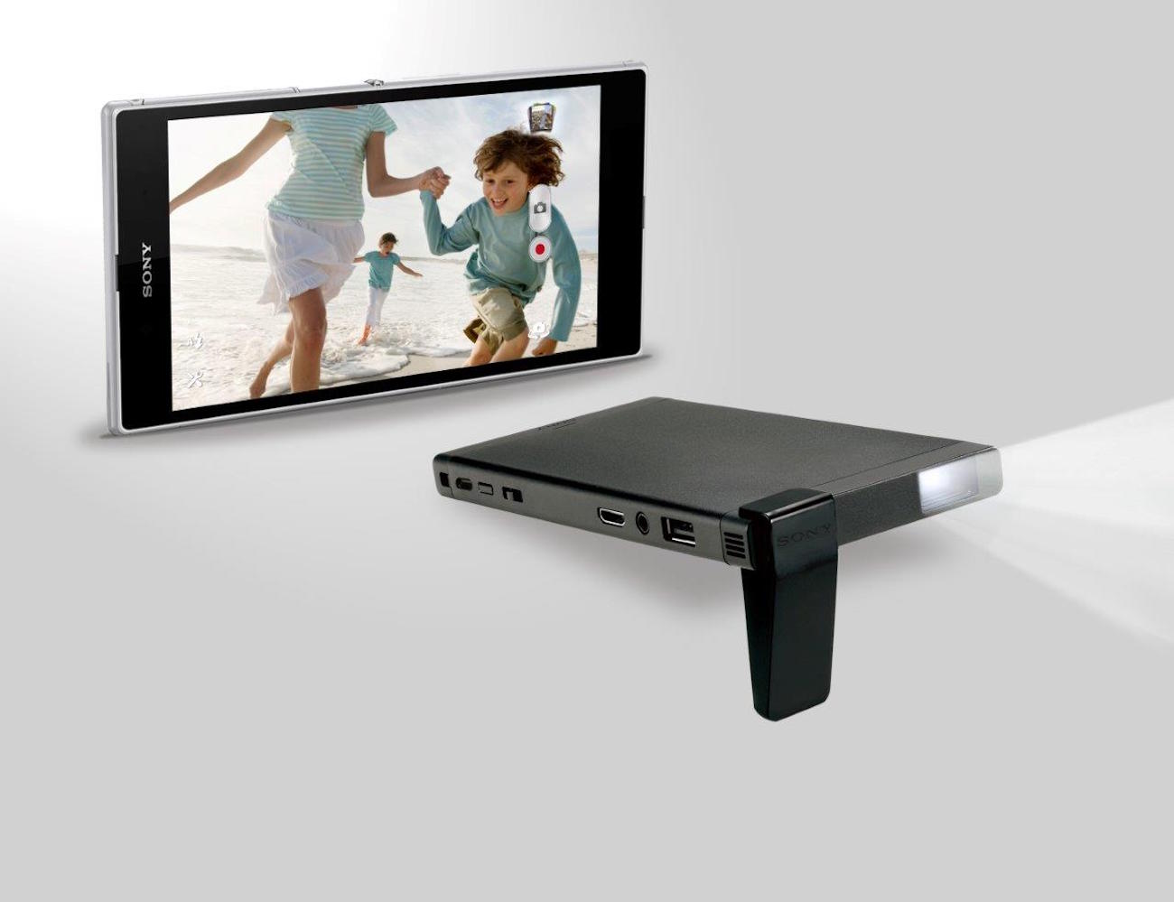 Sony hd pico mobile projector gadget flow for Hd pico projector