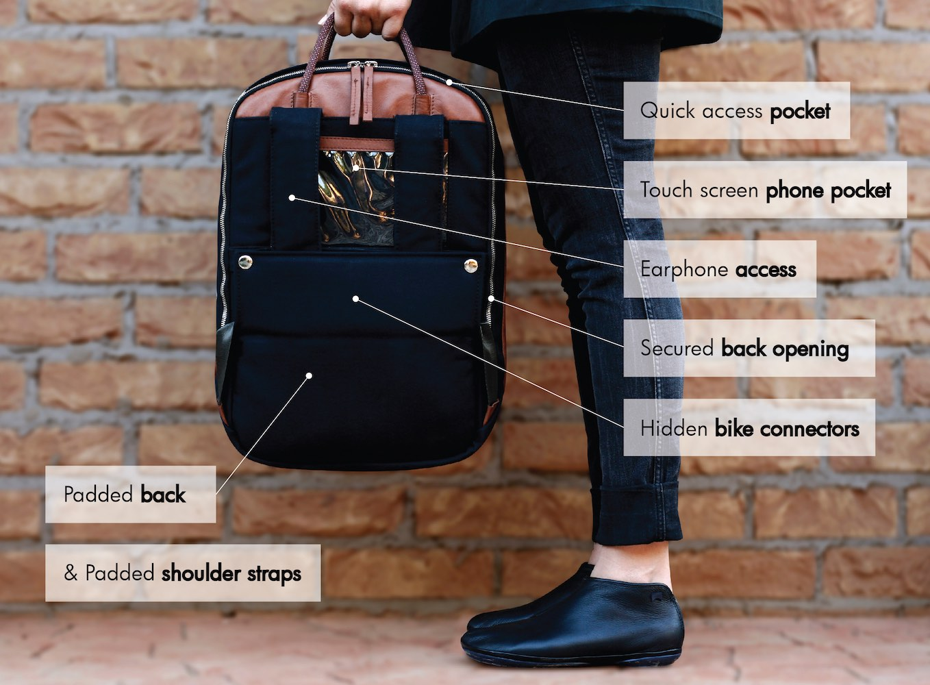 The Elegant Urban Cycling Commuter Backpack