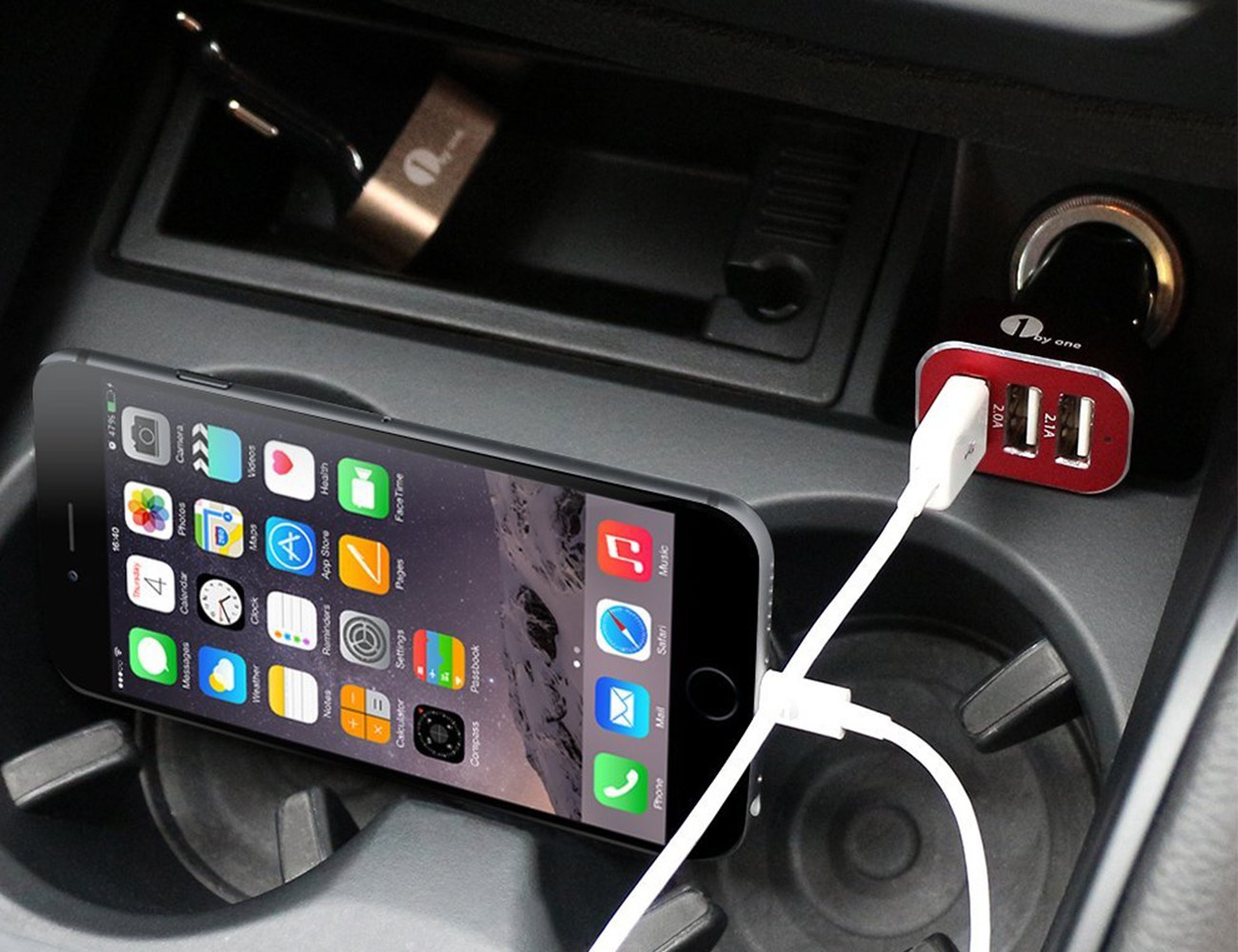 Triple USB Port Car Charger by 1byone