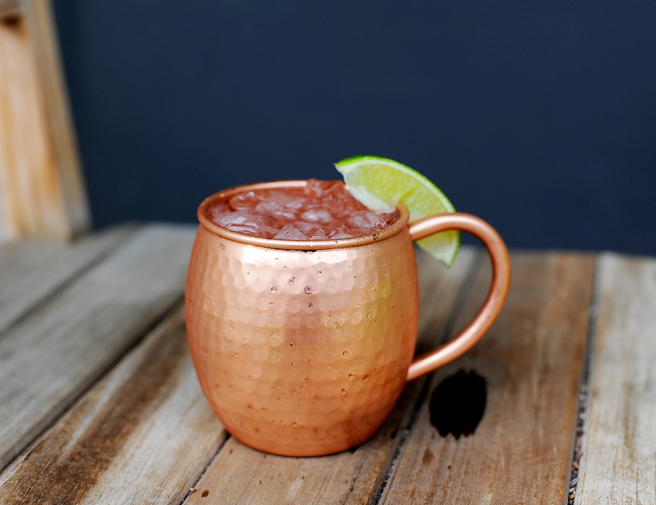 Antique Hammered Copper Barrel Mug