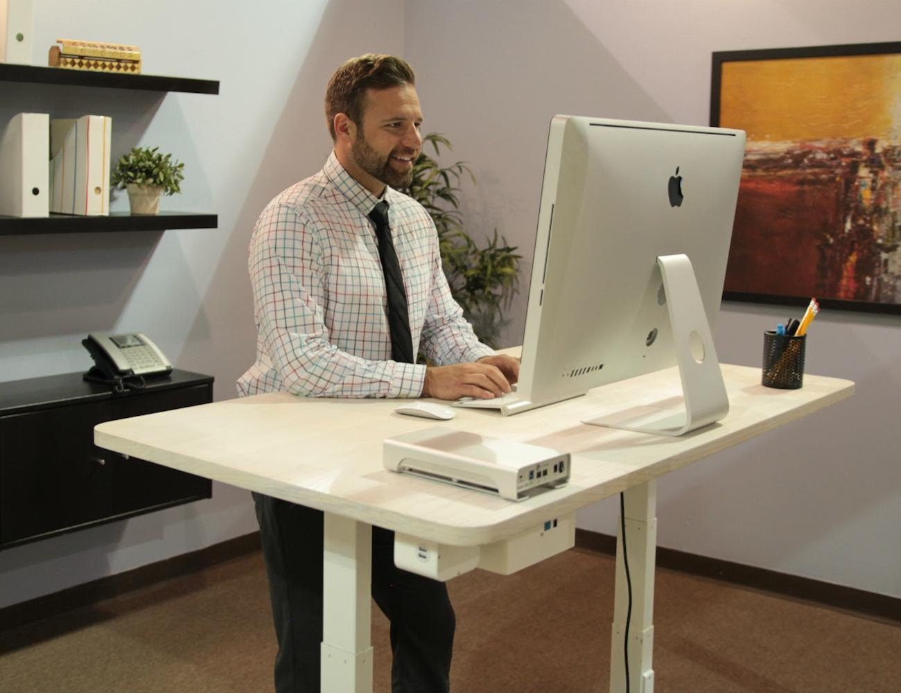 Bamboo Sit & Stand Smartdesk » Gadget Flow. Good Pc Desks. Drawer Pull Backplates. High Top Table Set. Pull Out Drawer Microwave. Night Table Lamps. Cheap Office Desk. Bed Drawers. How To Build A Roll Top Desk