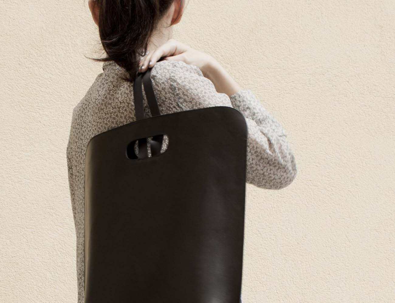 Basic Leather Backpack by Simple Be