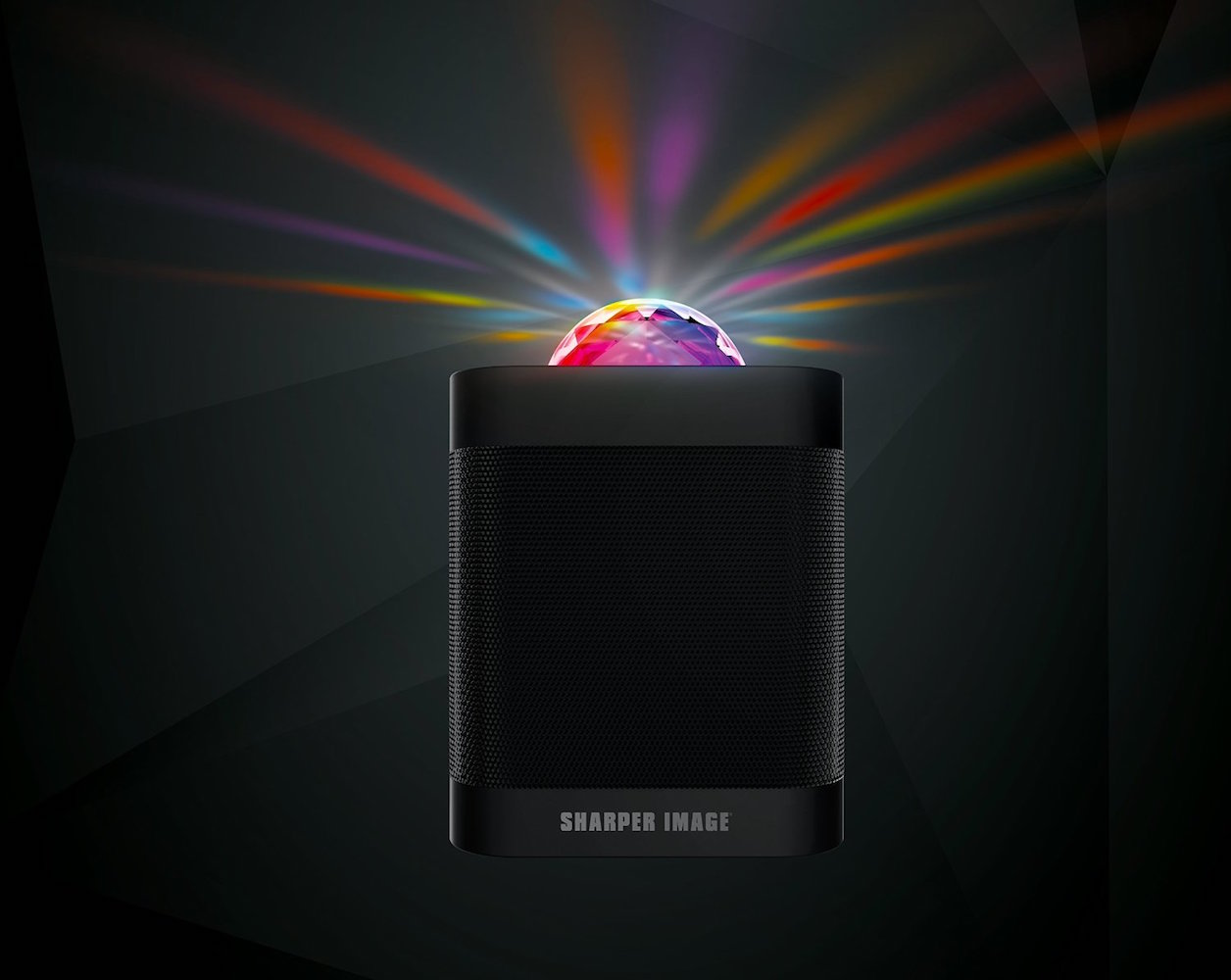 Bluetooth Speaker With Led Light Show From Sharper Image Gadget Flow