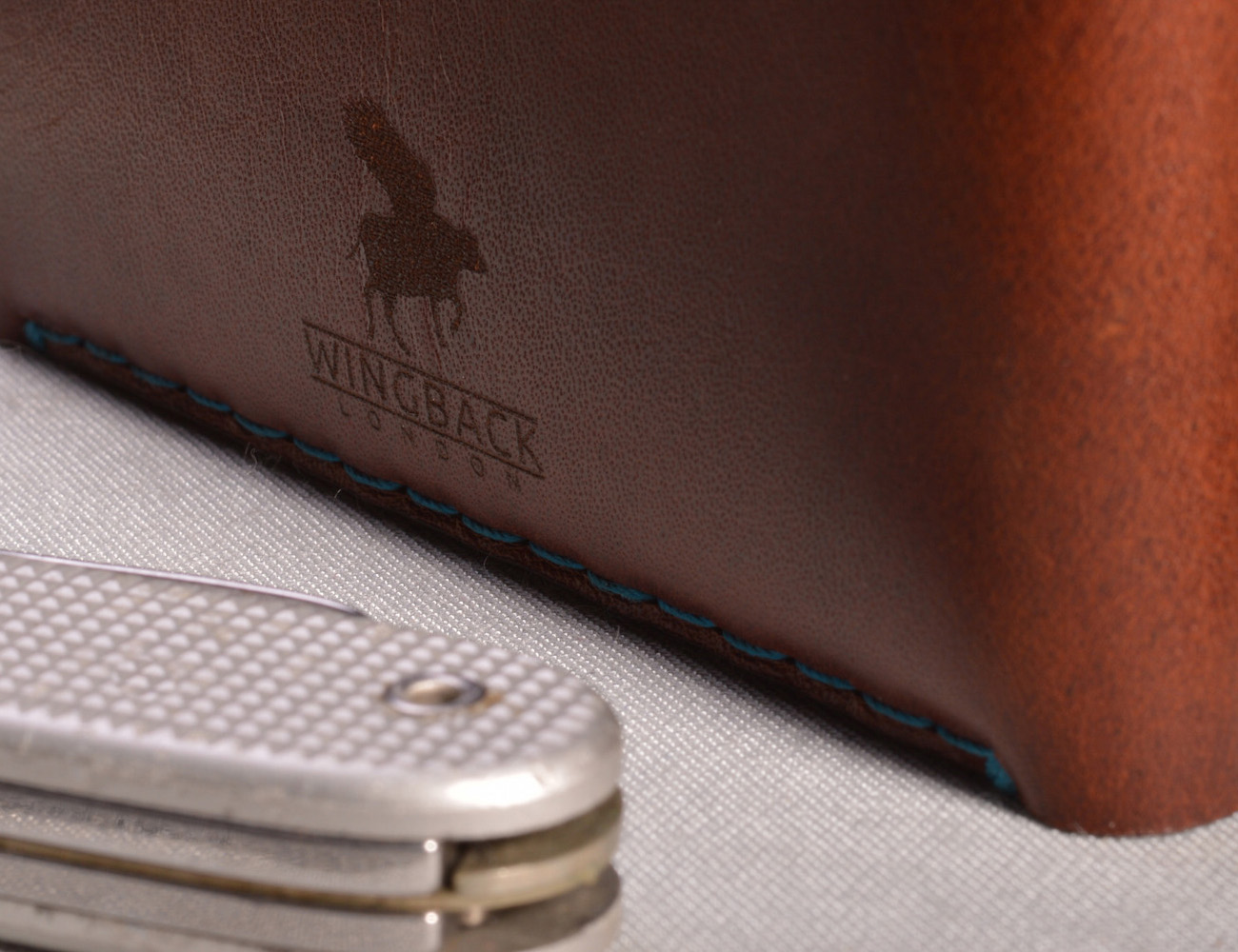 Brown Leather Card Wallet by Wingback
