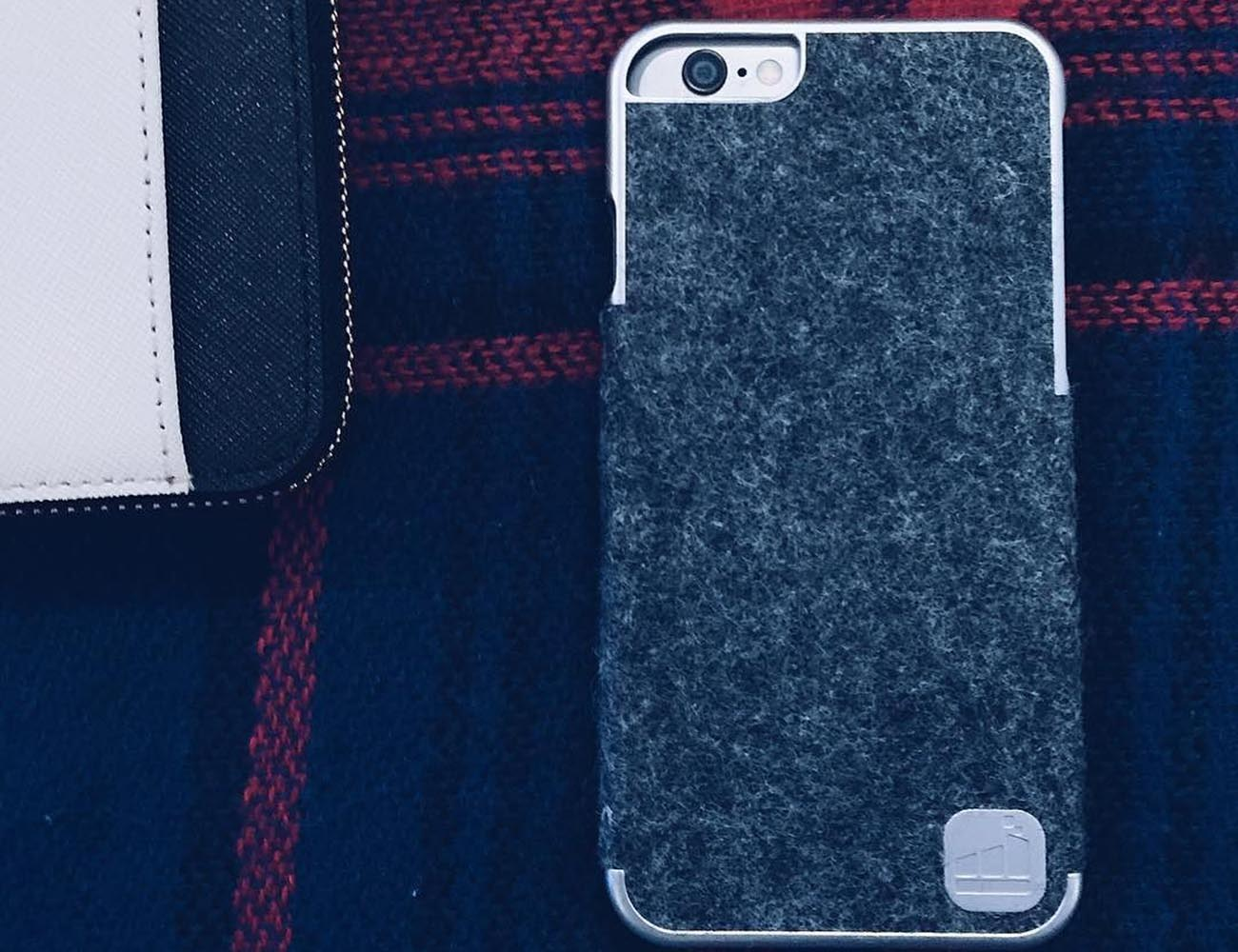 Classic Silver & Wool iPhone Case by theWTFactory