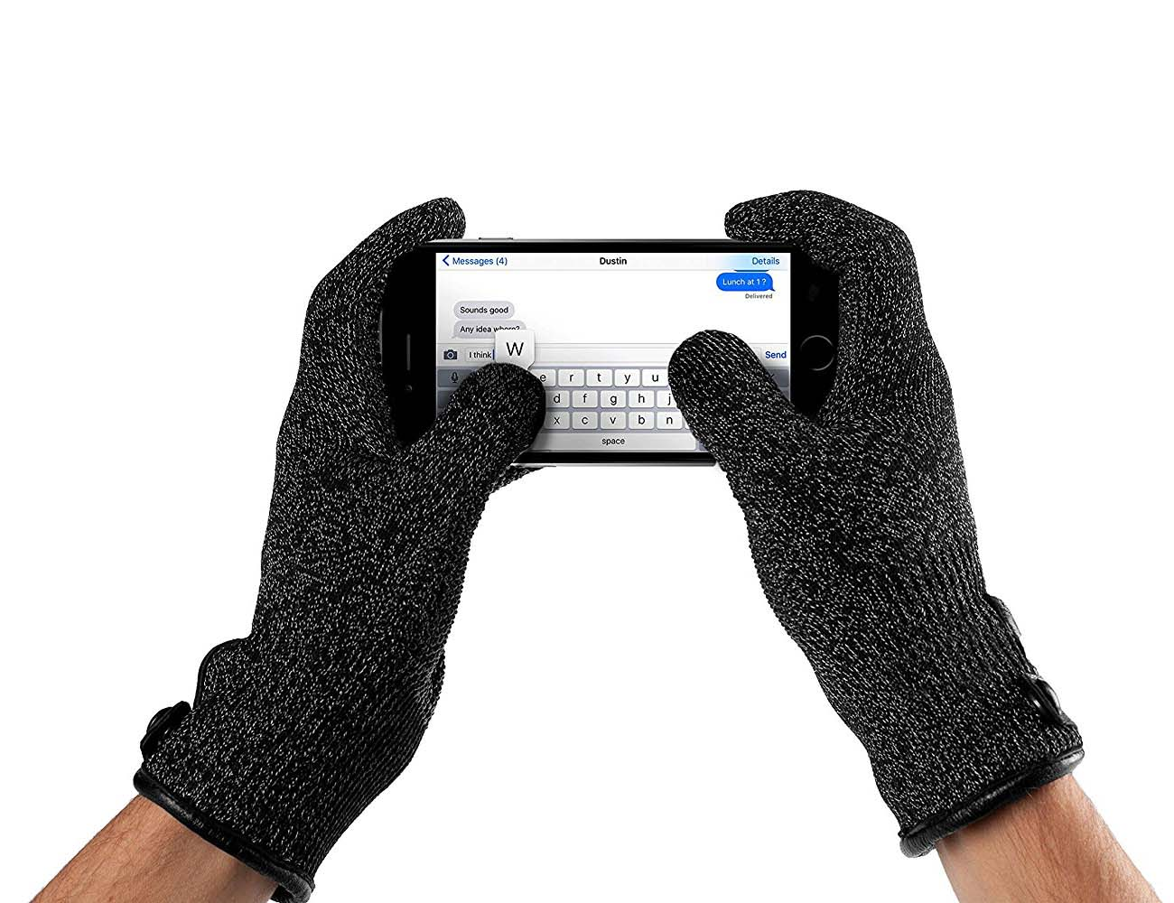 Double Layered Touchscreen Gloves by Mujjo