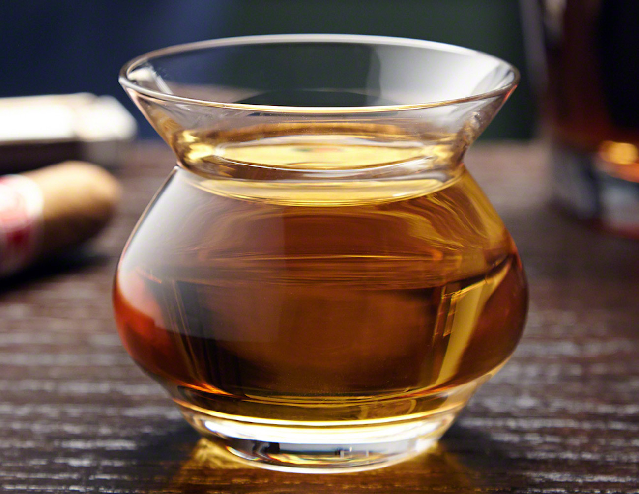 Hand Blown Neat Whiskey Glass