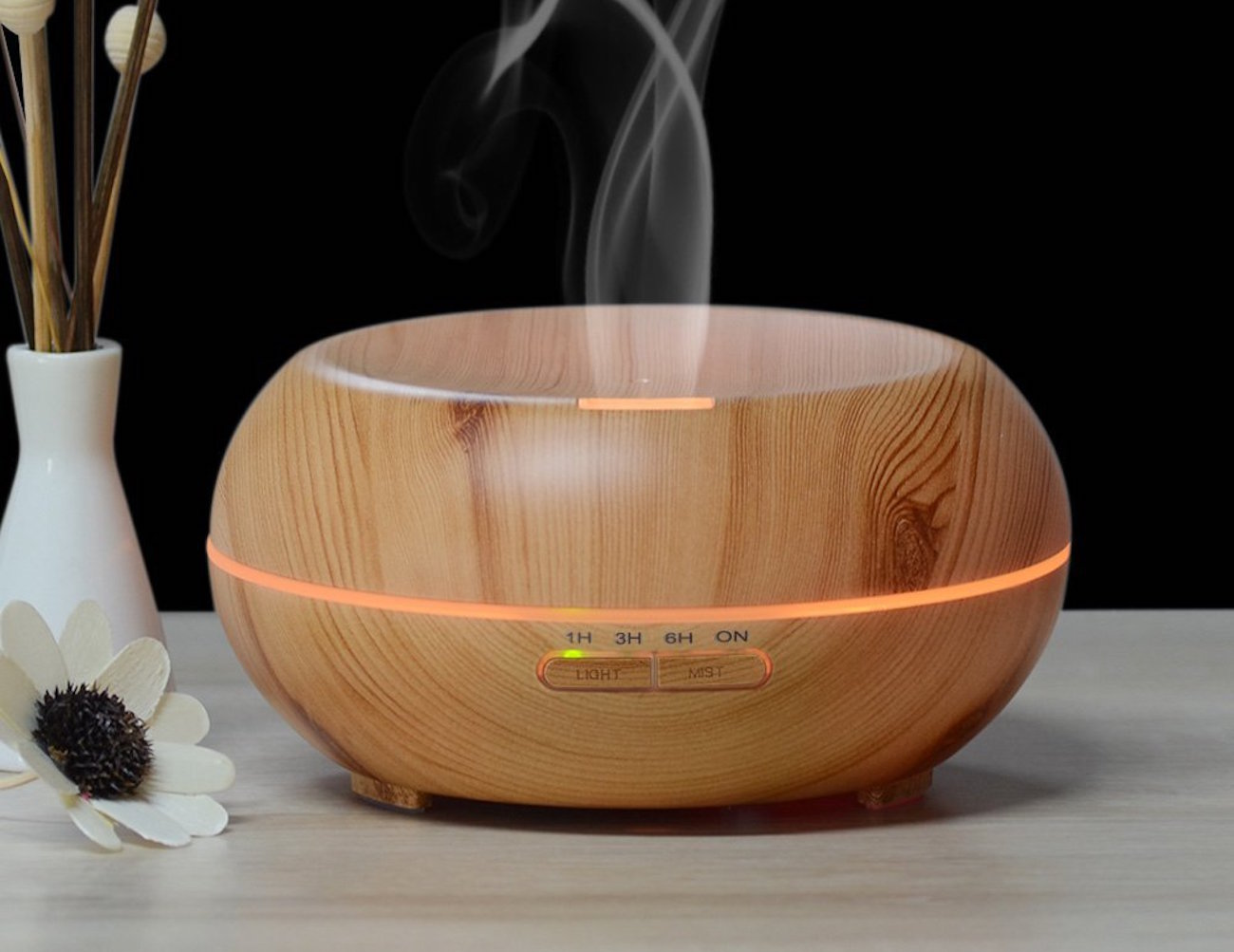 Ultrasonic Oil Diffuser ~ Innogear wood grain ultrasonic oil diffuser review the