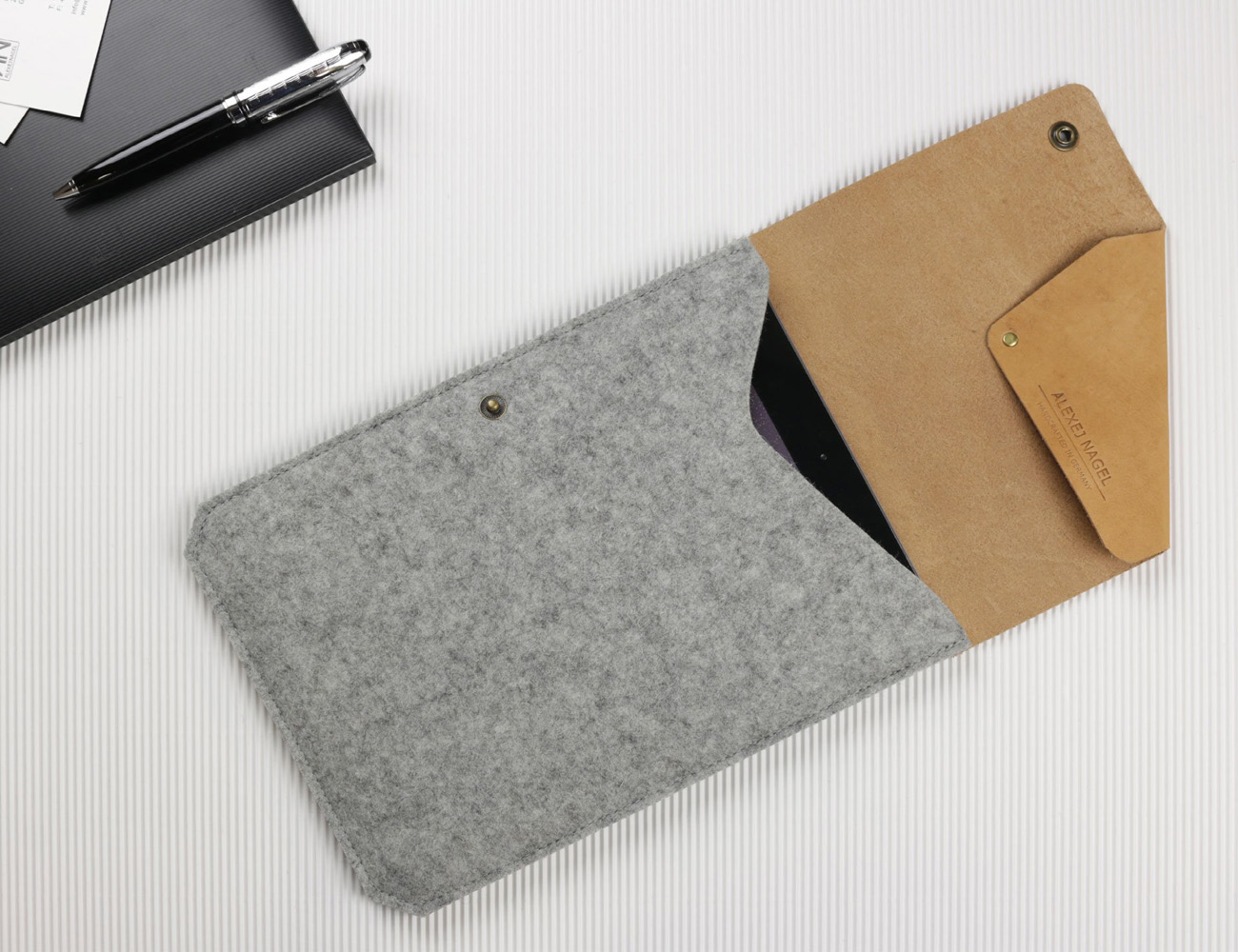 Leather and Felt iPad Air Sleeve by Alexej Nagel