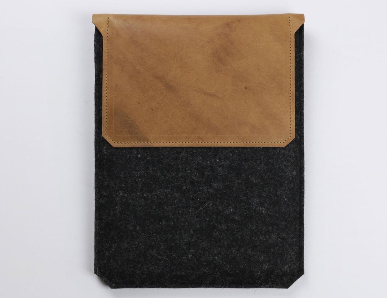 Leather and Felt iPad Air Sleeve by Alexej Nagel