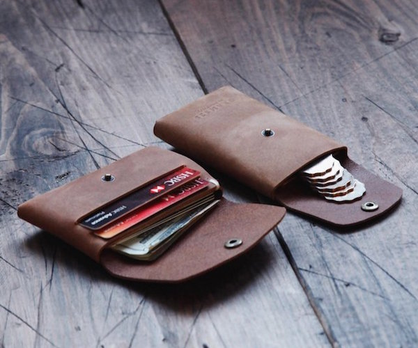 Leather Snap Wallet by GRAMS28