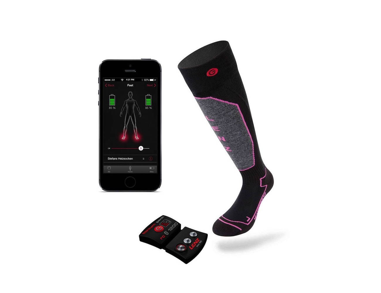 Lithium Powered Heated Socks by Lenz Products
