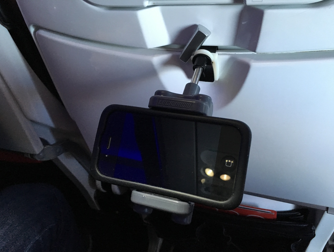 Lockjaww In-flight Mobile Device Holder