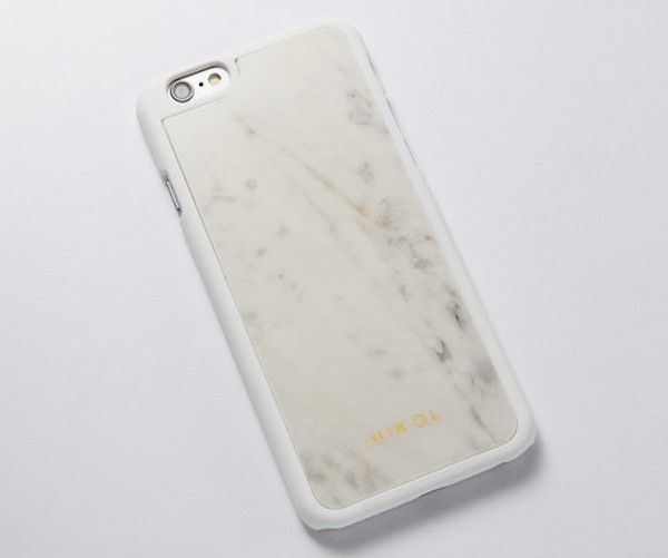 meet 0d5a9 03d89 World's First Real Marble Notebook Journal & Gemstone iPhone 6s Case