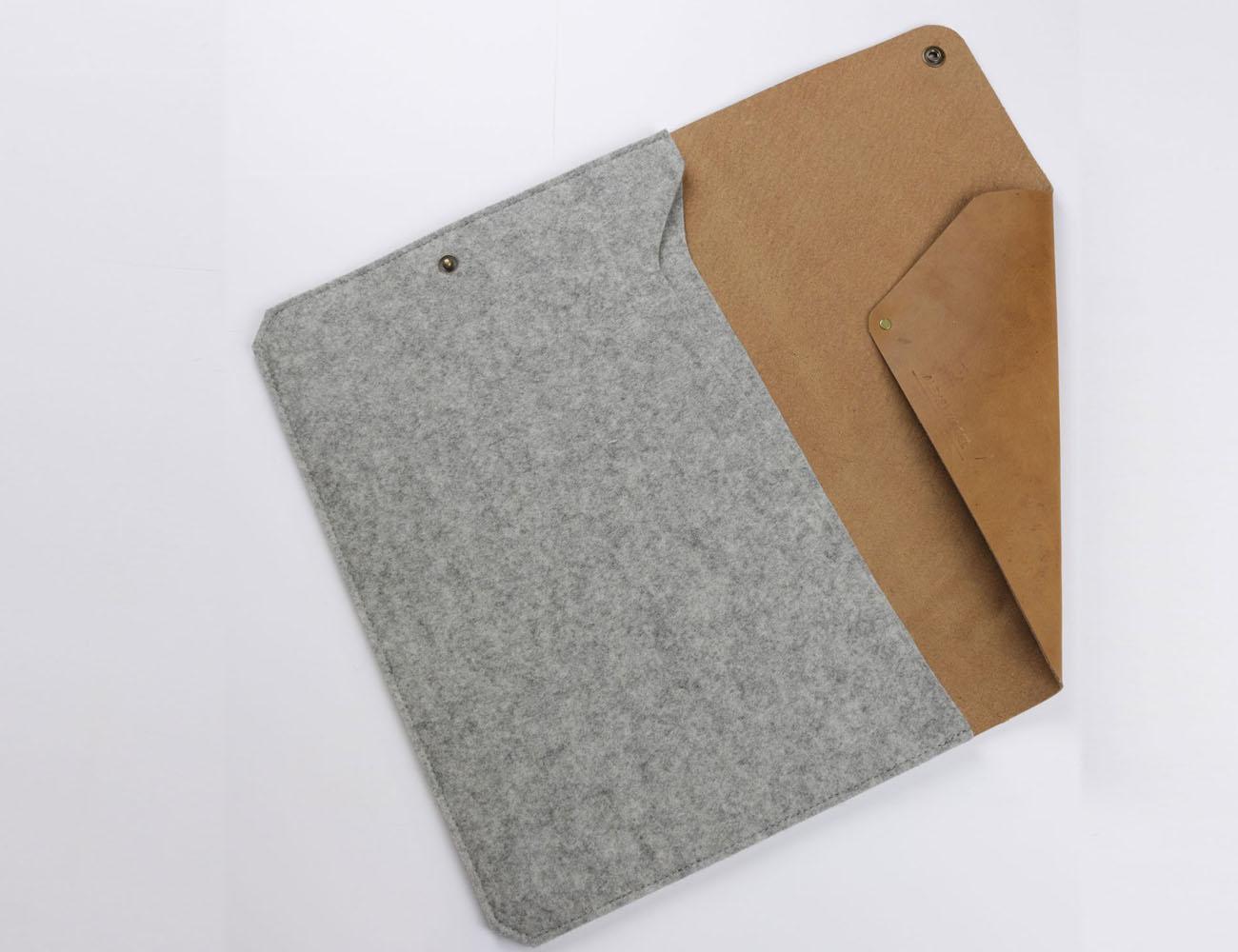 Leather & Felt MacBook Air Sleeve by Alexej Nagel