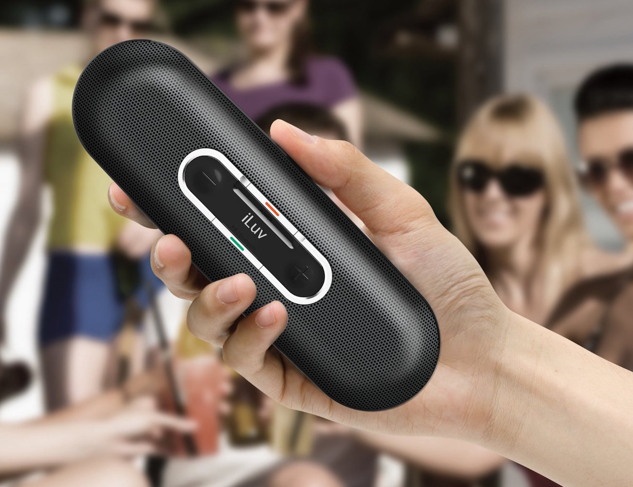 Kick back and turn up the tunes anywhere you go with the Rollick Wireless Bluetooth Speaker by iLuv.