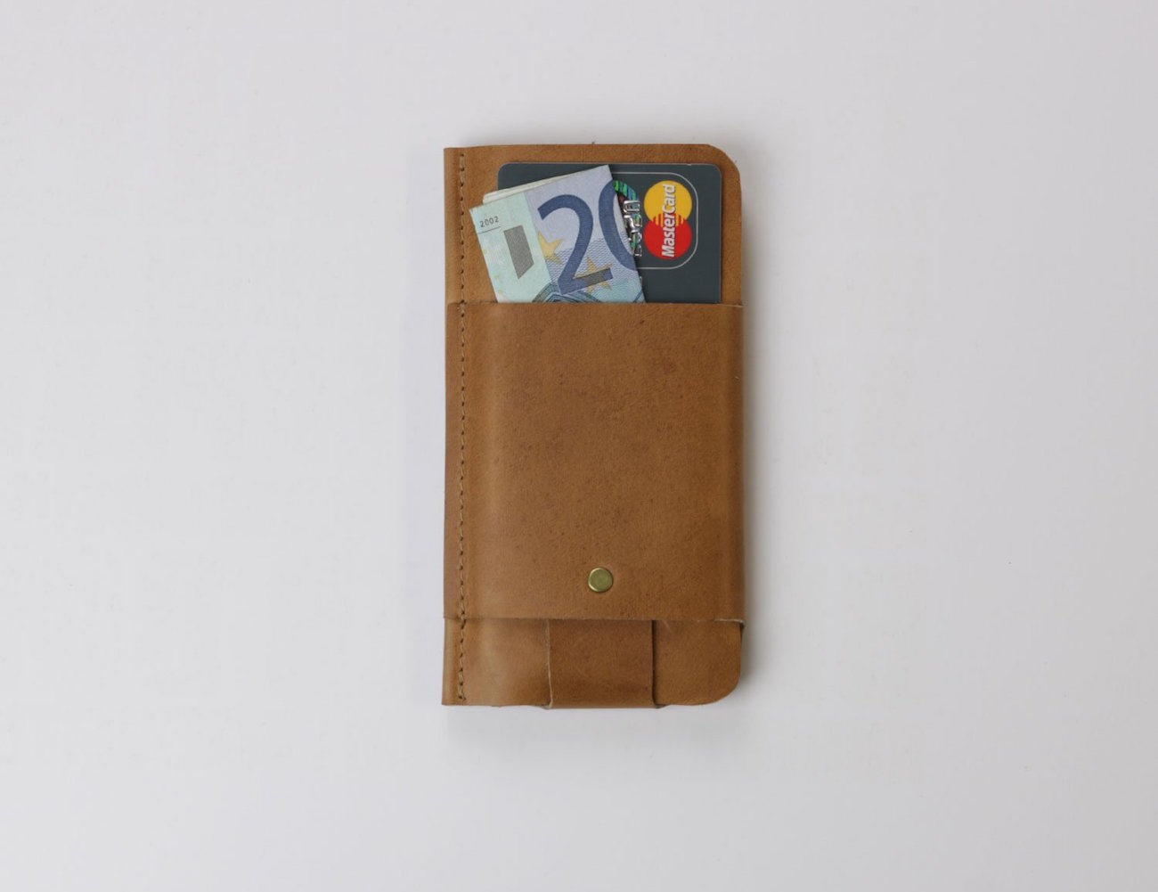 Slim Fit Vintage Leather Wallet & Sleeve by Alexej Nagel