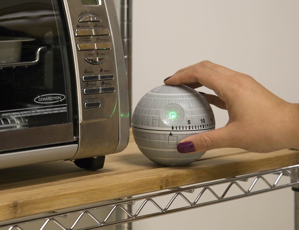 Use the power of the force to make sure all of your food is cooked to perfection with the Star Wars Death Star Kitchen Timer with sounds.