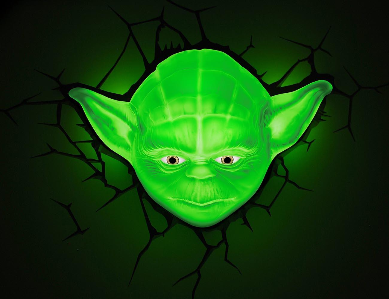 Star Wars Yoda 3d Wall Light With Remote Control : Star Wars Yoda 3D Deco Light Gadget Flow
