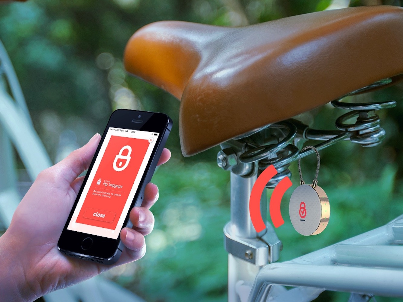 The Lockee Keeps your Luggage Safe and Secure