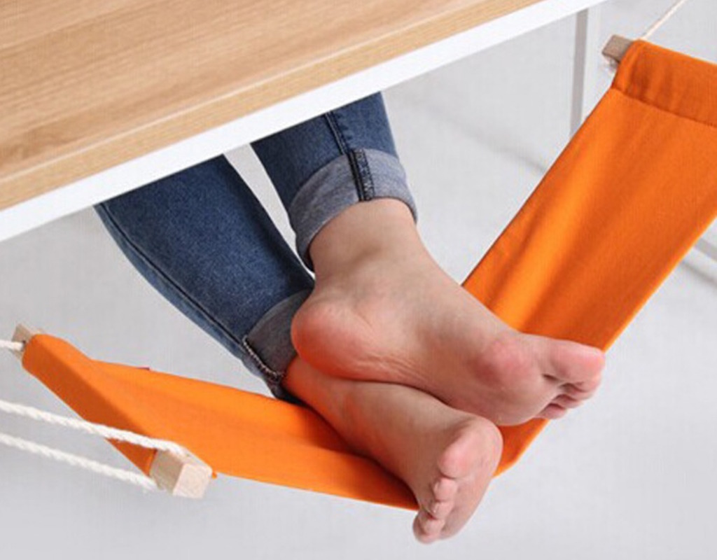 V1NF-60-16cm-Office-Foot-Rest-Stand-Desk-Feet-Hammock-Easy-to-Disassemble-Study-Indoor-Orange