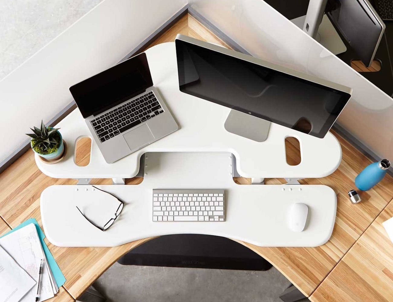 Varidesk Cube Corner Height Adjustable Desk 187 Gadget Flow