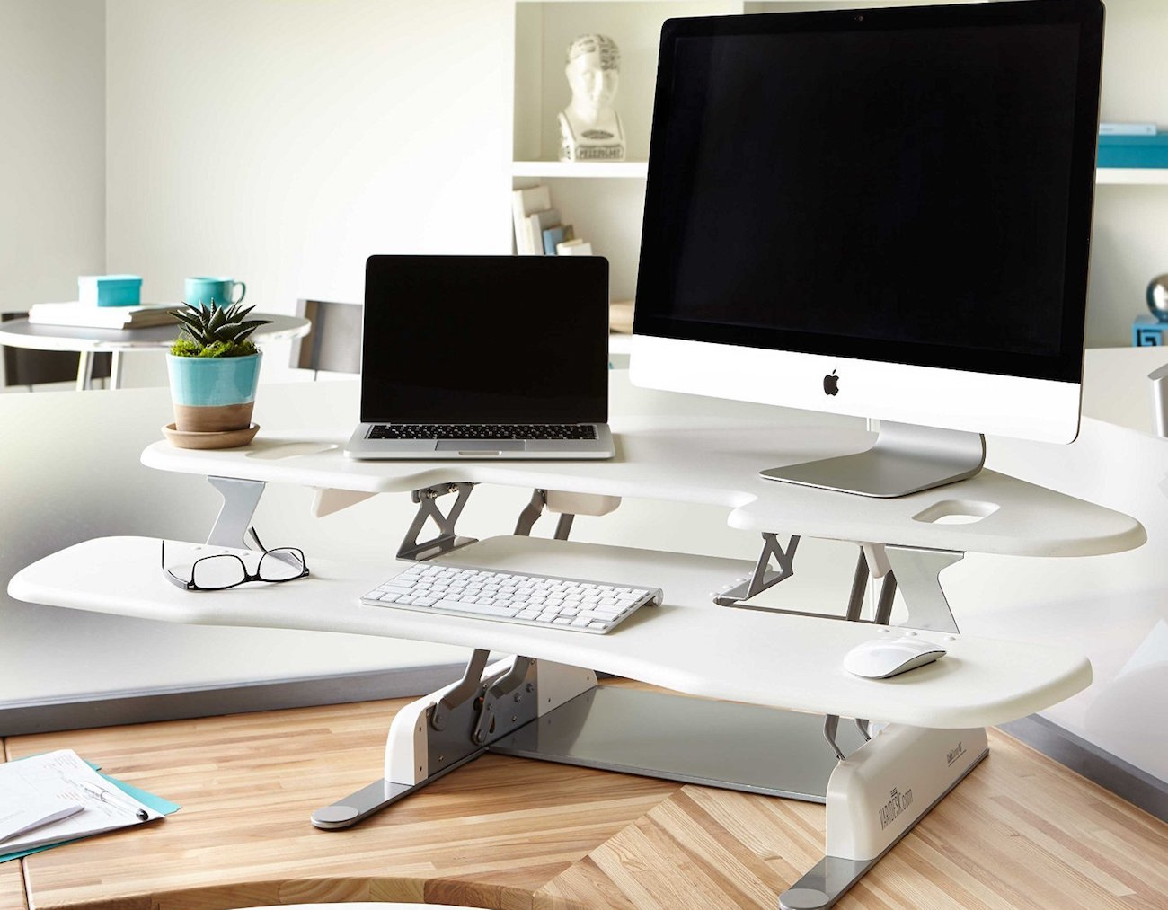 VARIDESK Cube Corner Height Adjustable Desk
