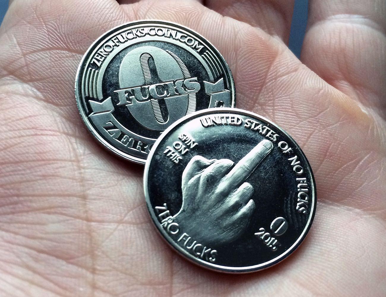 Zero F**ks Given Coins