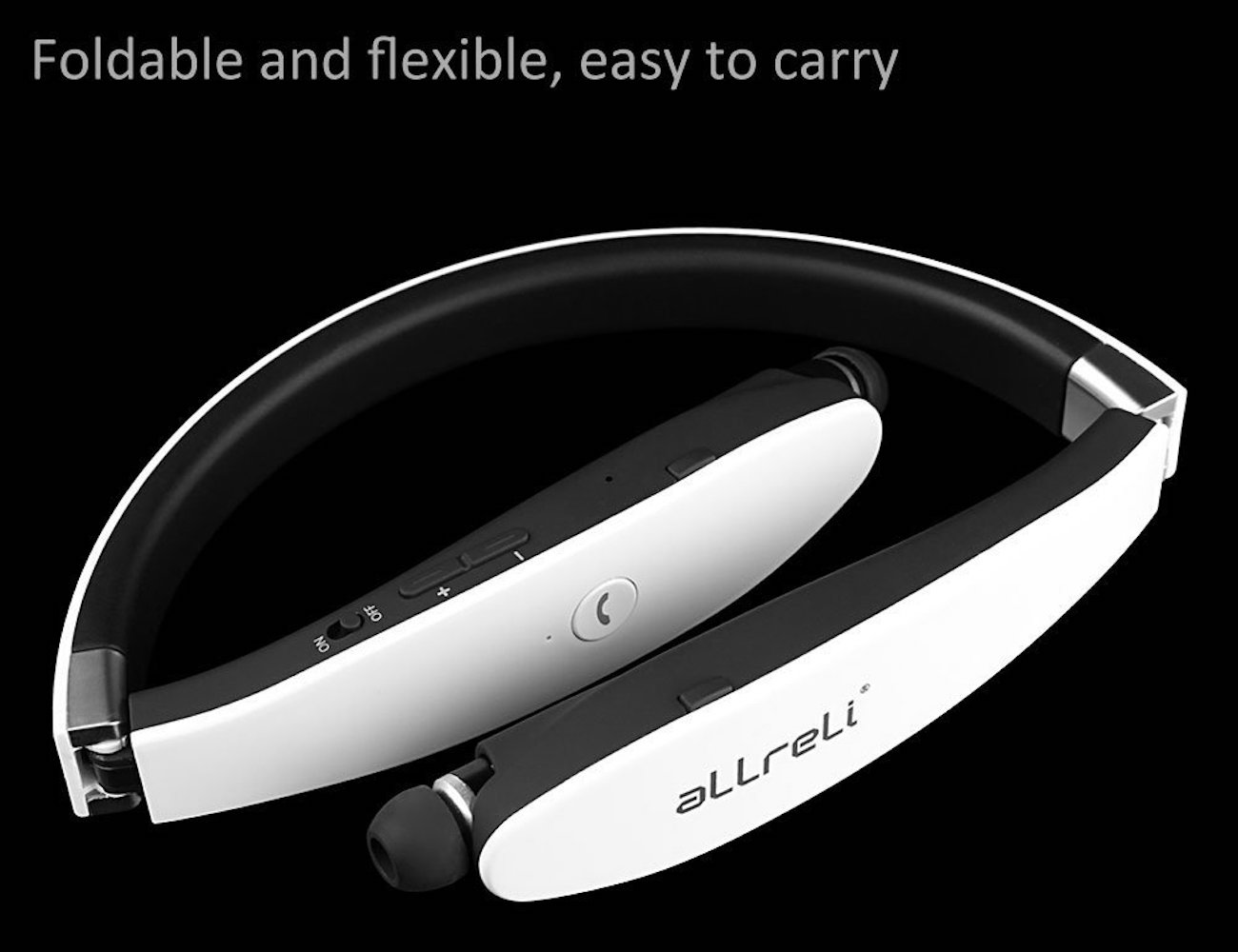 aLLreLi Bluetooth 4.0 Soba Retractable Wireless Stereo Headset