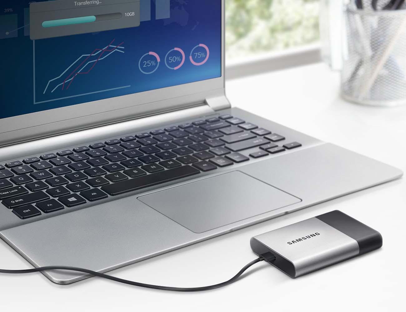 2TB Samsung Portable SSD External Storage Device