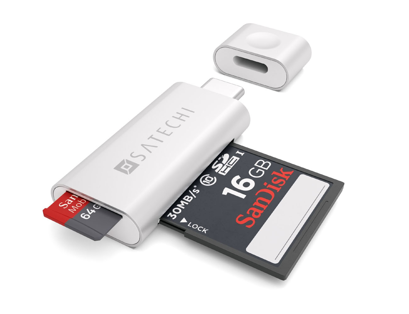 Aluminum Type C Card Reader by Satechi