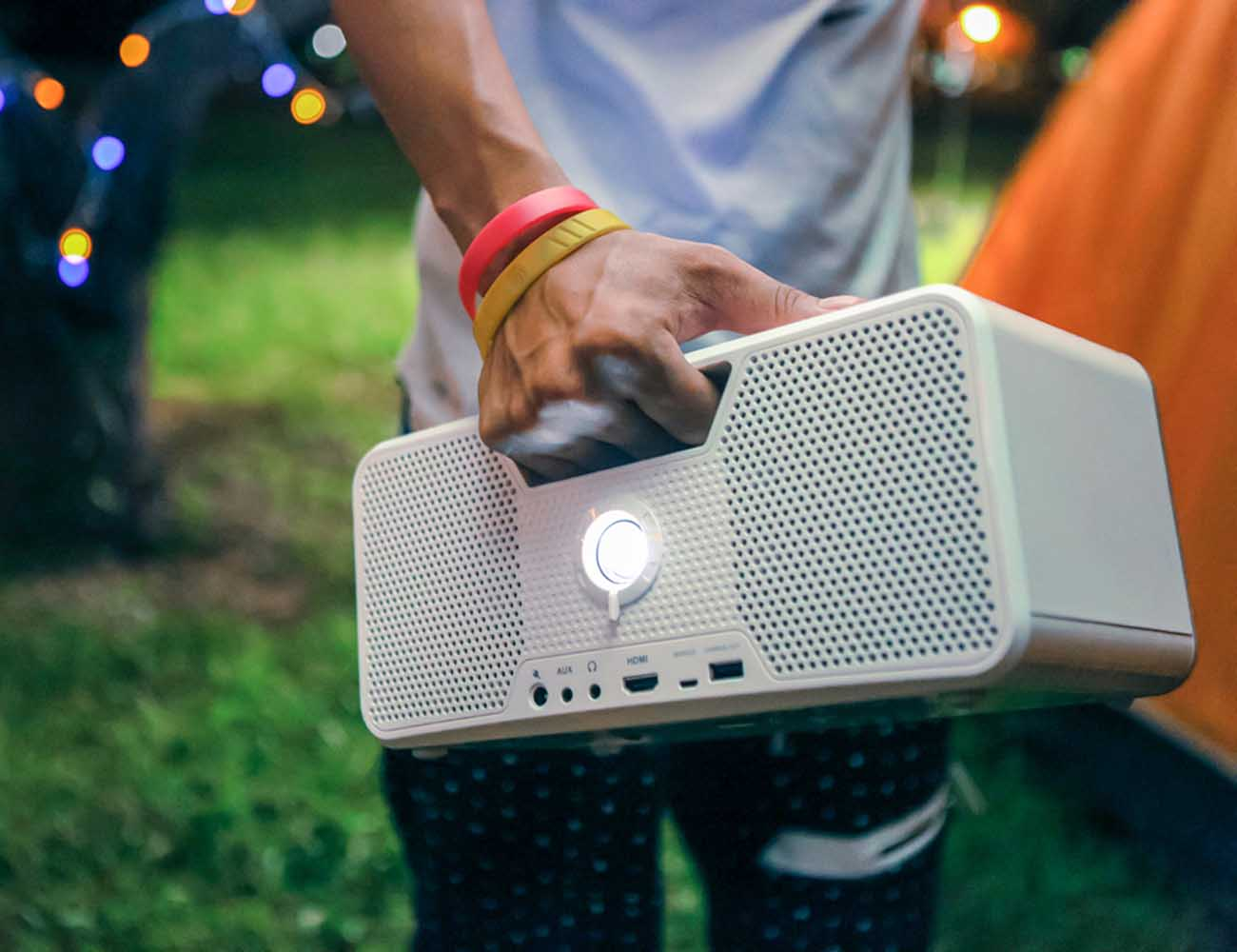 Dashbon+Flicks+Mobile+Cordless+Boombox+Projector