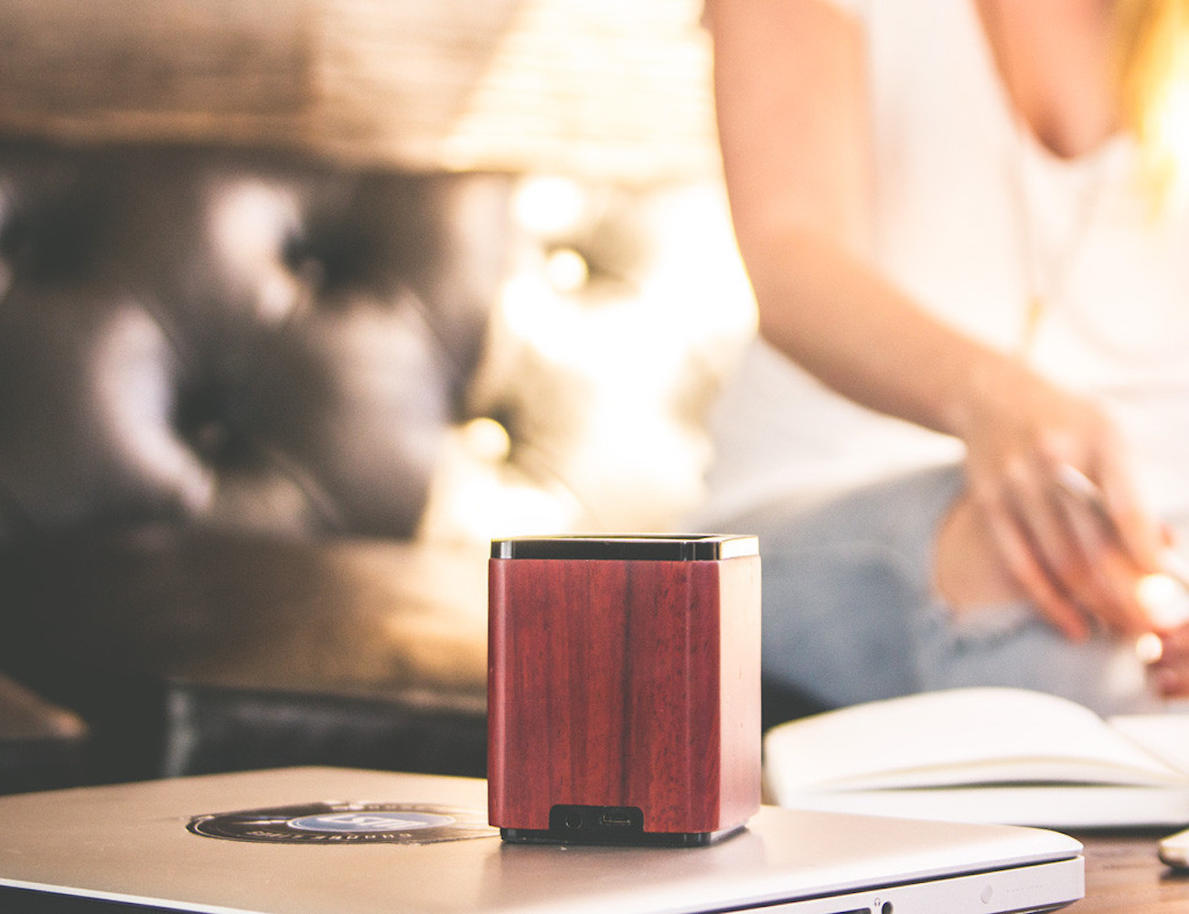 LSTN Satellite Portable Wood Speaker