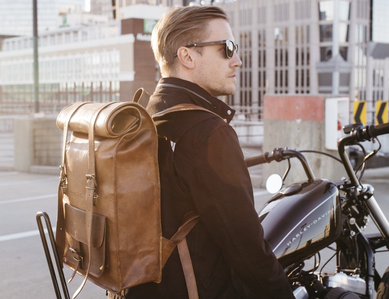 Leather Rolltop Backpack by Johnny Fly Co » Gadget Flow