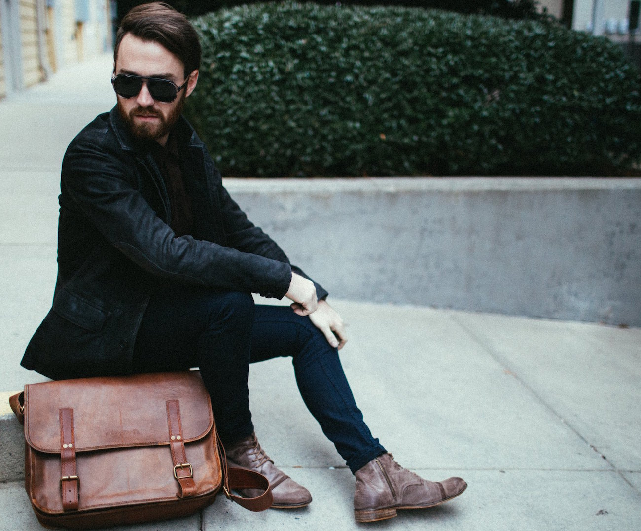 Leather Studio Camera Bag by Johnny Fly Co