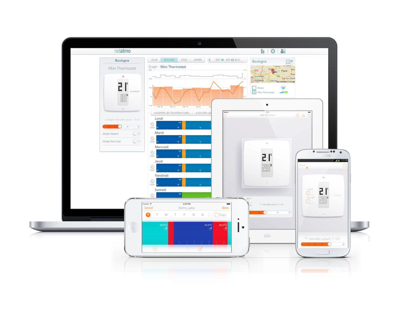 Thermostat For Smartphone, Tablets and Laptops by Netatmo