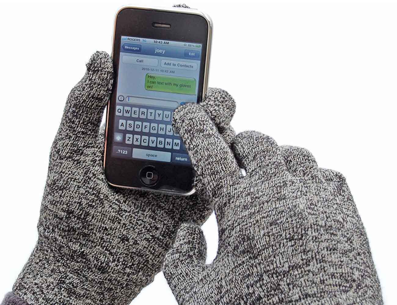 Solid Winter Touchscreen Gloves by Glove.ly